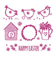 easter sketch bird doodle ornament vector image vector image