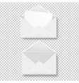 envelope collection transparent background vector image