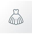 evening gown outline symbol premium quality vector image