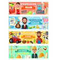 farmer seller and engineer farmer profession vector image vector image