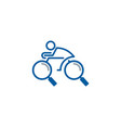 find bike logo icon design vector image