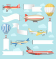flying air advertising media vehicles and vector image vector image