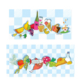 Food banners for restaurant and cafe vector image