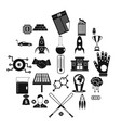 fortunate icons set simple style vector image vector image