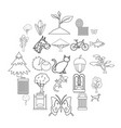 fresh air icons set outline style vector image vector image