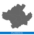 high quality map city italy vector image