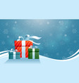 holiday christmas background gifts in the snow vector image