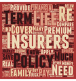 How To Control Your Life Insurance Premiums text vector image vector image