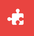 icon concept of puzzle piece on red background vector image vector image