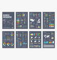 infographic a4 brochure elements vector image