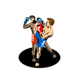 Kickboxer Kicking vector image