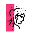 logo female head linear icon woman flat vector image vector image