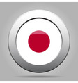 metal button with flag of Japan vector image vector image