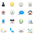 Mobile icons set vector image vector image