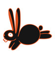 modern with cute black rabbit vector image