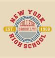 new york college brooklyn vector image vector image