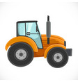 orange tractor isolated on a white vector image