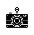 photo camera icon black sign vector image vector image
