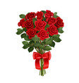 rose bunch realistic composition vector image vector image