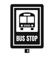 school bus stop sign icon simple style vector image