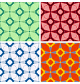 seamless abstract figures pattern set vector image vector image
