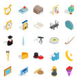 self development icons set isometric style vector image vector image