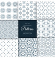 set of floral style patterns set in different vector image vector image