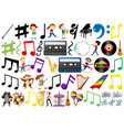 set of music element vector image