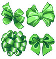 set with green bows vector image