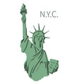 sketch of statue of liberty new york of usa vector image vector image