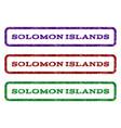 solomon islands watermark stamp vector image vector image