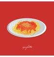 spaghetti vector image