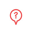 speech bubble question icon in flat style vector image vector image