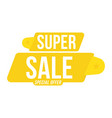 super sale discount yellow tag flat vector image
