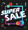 super sale in shopping on colorful background vector image