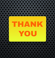 Thank You Banner vector image vector image