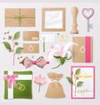 wedding salon corporate identity template set vector image vector image