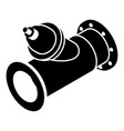 without tap pipe icon simple black style vector image vector image
