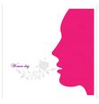 Women day backround vector image vector image