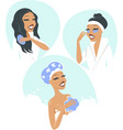 women taking a relaxing bath vector image vector image