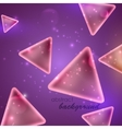abstract purple background with triangle shapes vector image