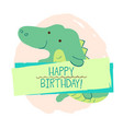 crocodile element of card vector image