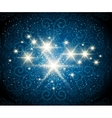 Shining Stars Blue Background vector image