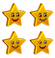 3d golden smiling stars vector image vector image