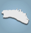 3d isometric map menorca is an island in vector image vector image