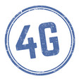 4g round sign or stamp vector image vector image