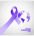 4th july world cancer day poster design vector image