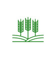 agriculture logo template design icon vector image vector image