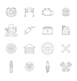 Auto service line icons set vector image vector image