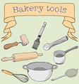 Bakery tools vector image vector image